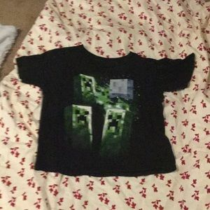 Minecraft creeper t-shirt with short sleeves